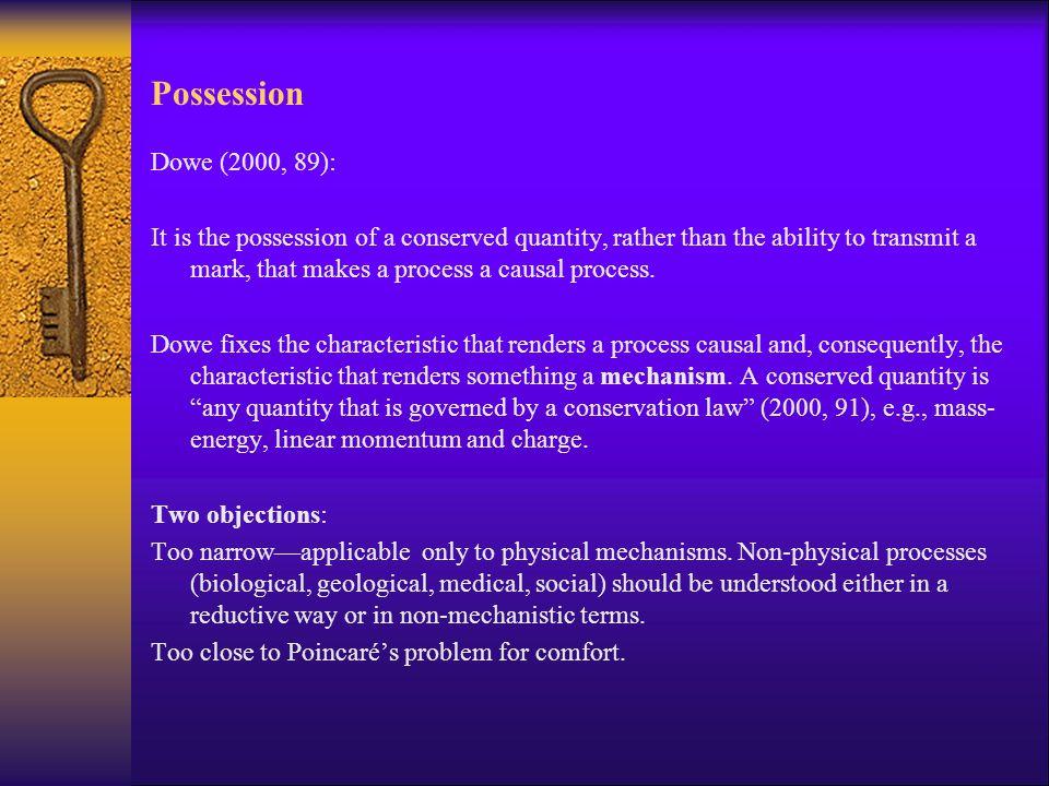 Possession Dowe (2000, 89):