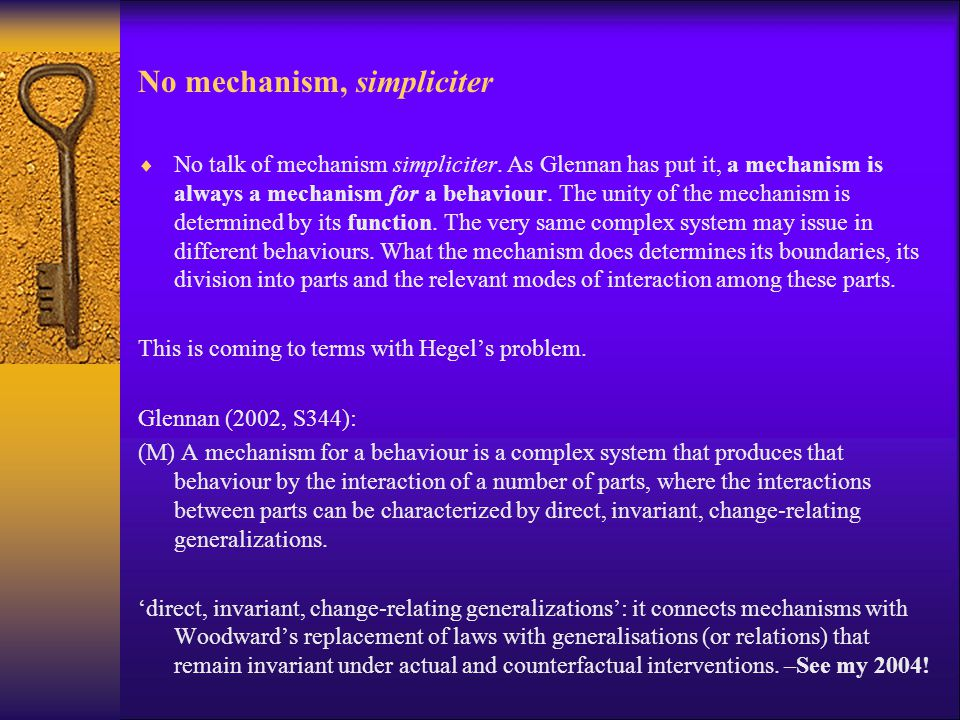 No mechanism, simpliciter