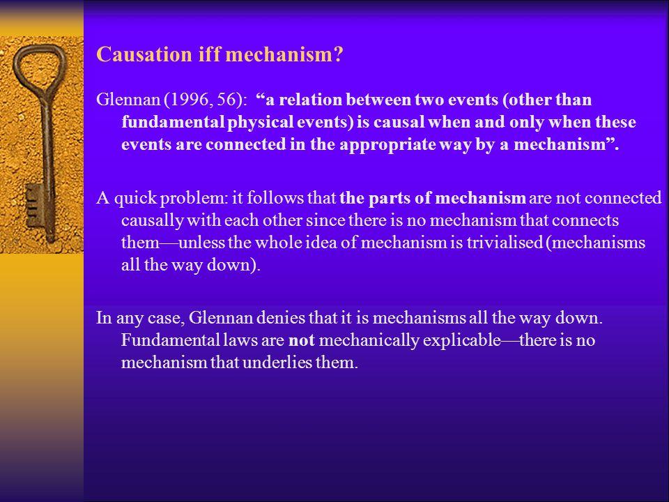 Causation iff mechanism