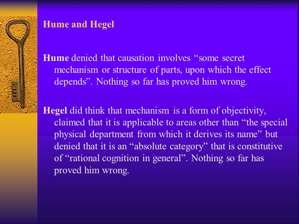 Hume and Hegel