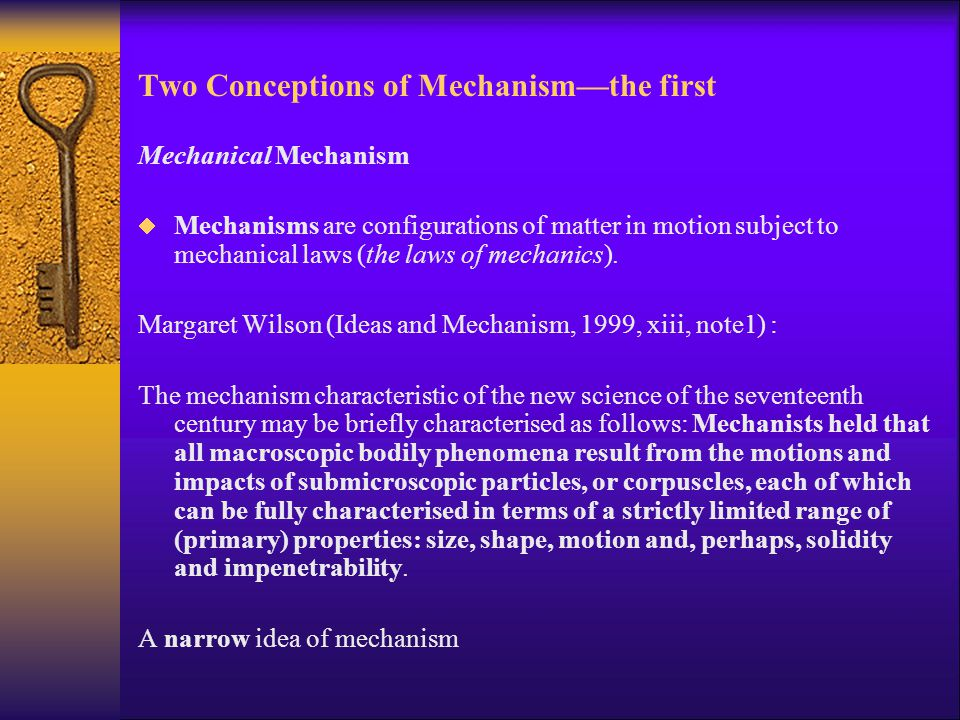 Two Conceptions of Mechanism—the first