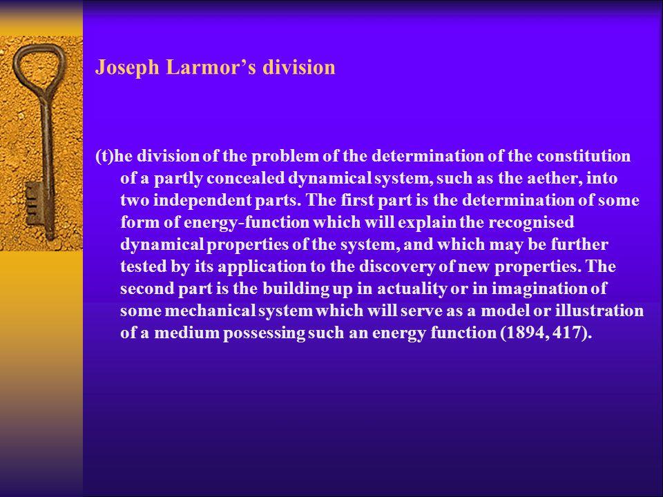 Joseph Larmor's division