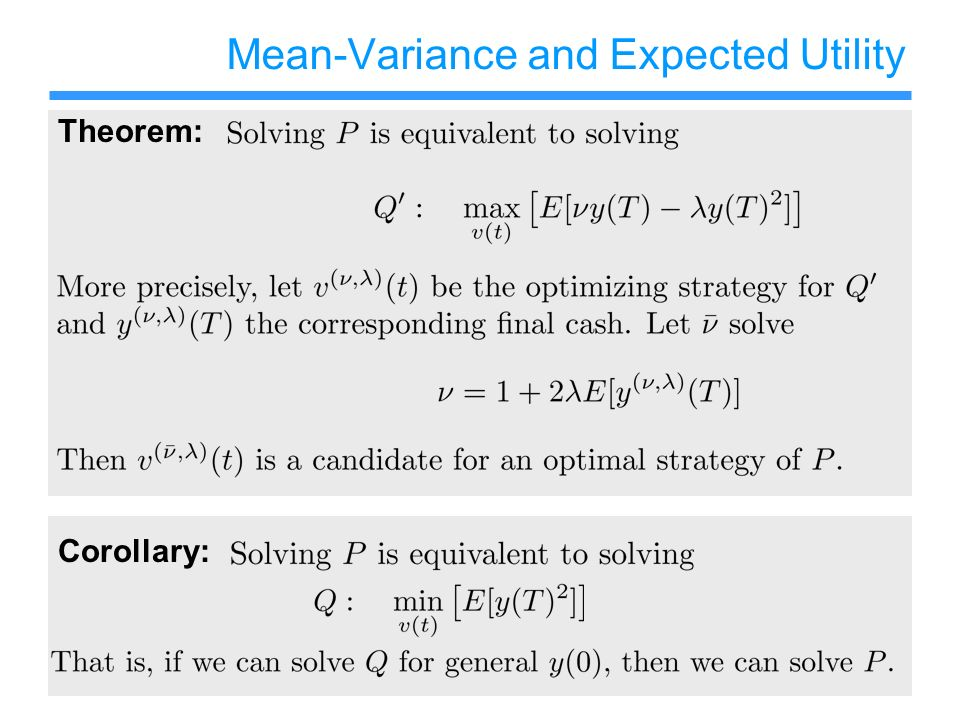 Mean-Variance and Expected Utility