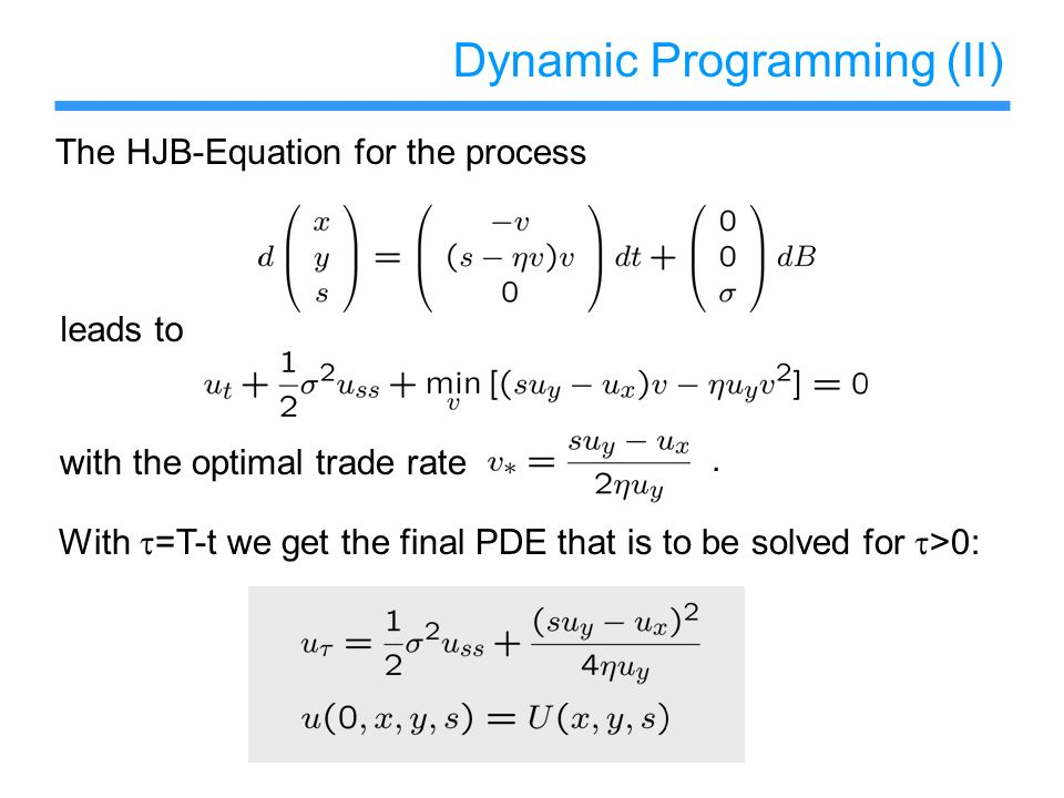 Dynamic Programming (II)
