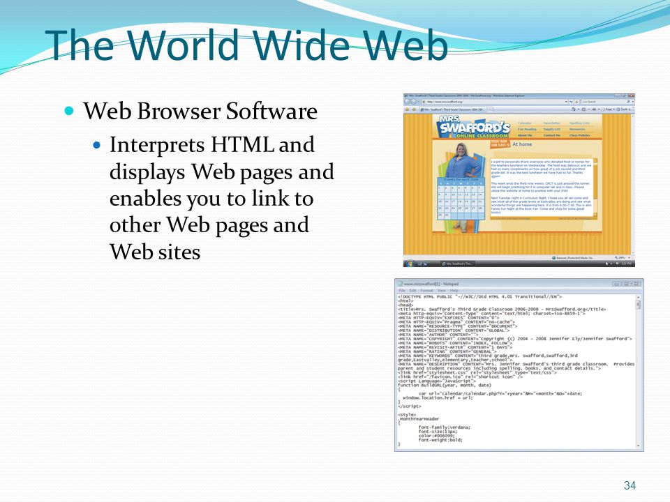 The World Wide Web Web Browser Software