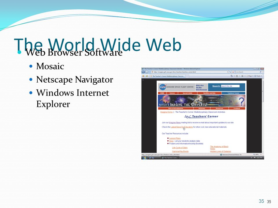 The World Wide Web Web Browser Software Mosaic Netscape Navigator