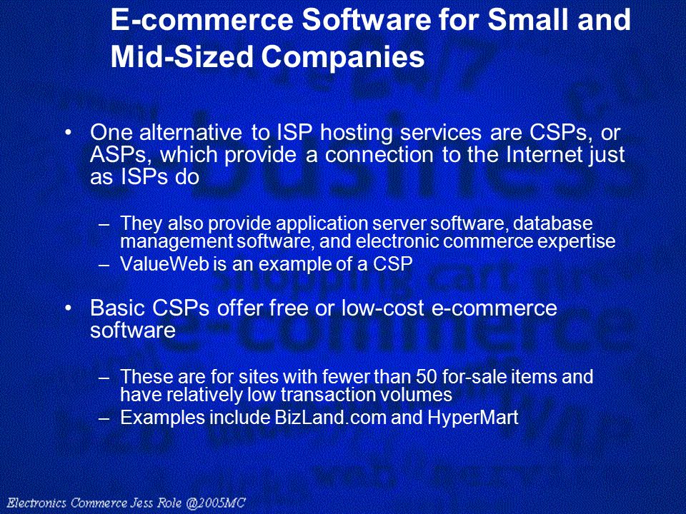E-commerce Software for Small and Mid-Sized Companies