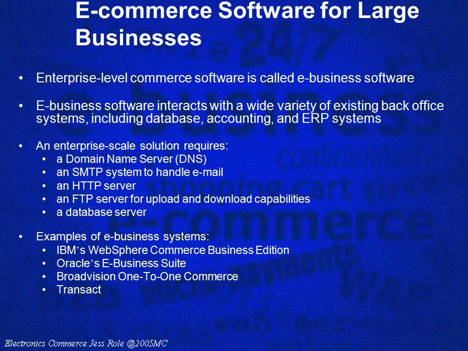E-commerce Software for Large Businesses