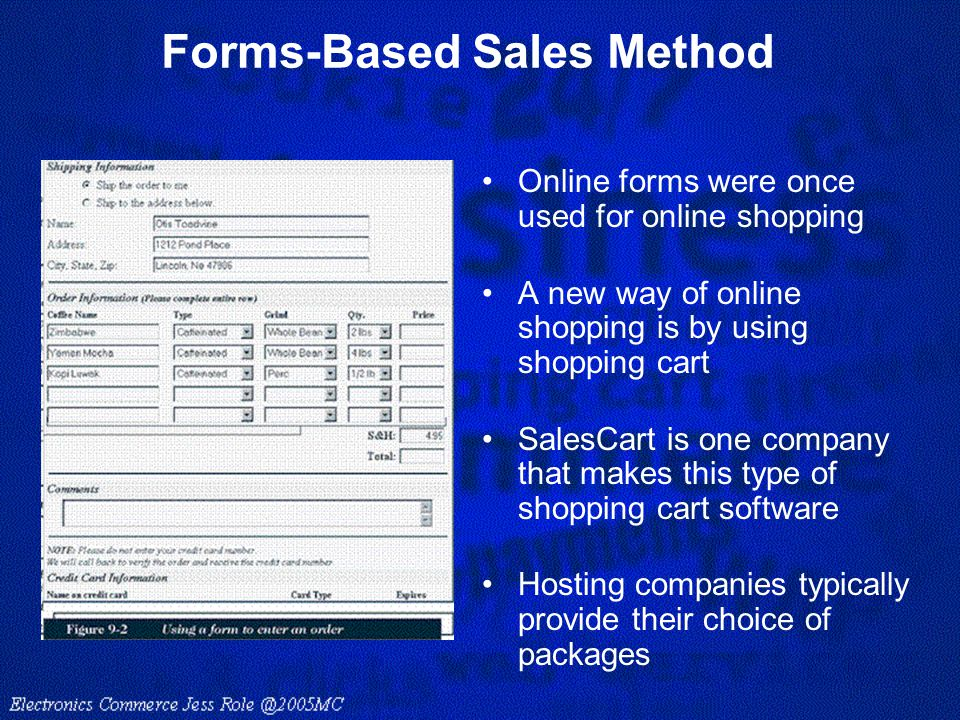 Forms-Based Sales Method