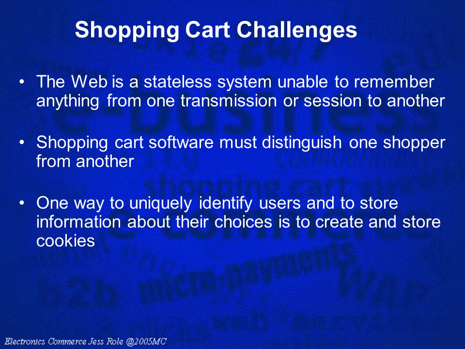 Shopping Cart Challenges