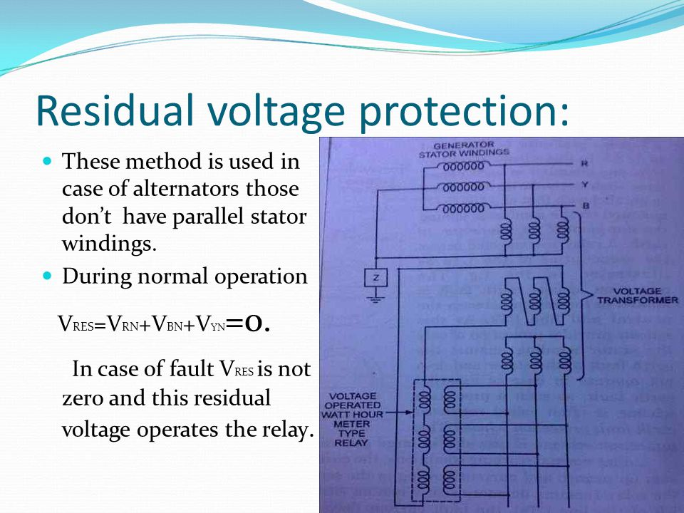 Residual voltage protection: