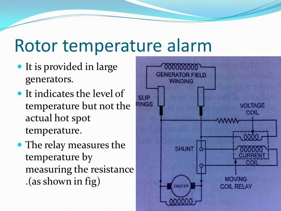 Rotor temperature alarm