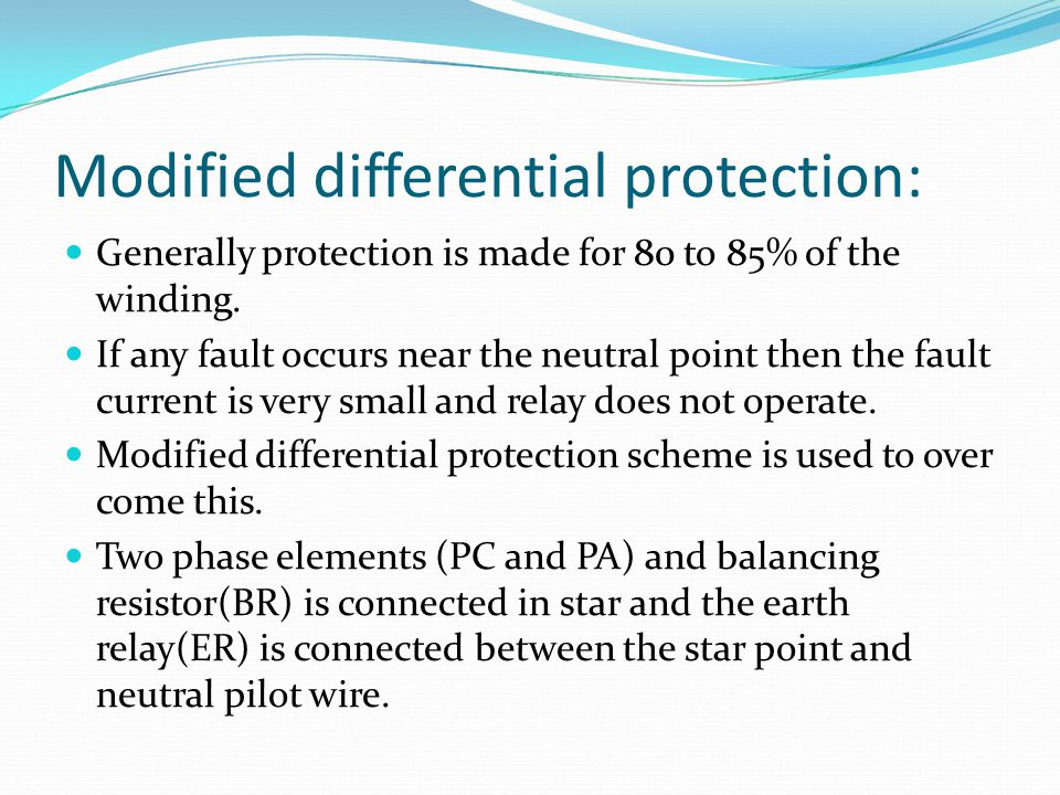 Modified differential protection: