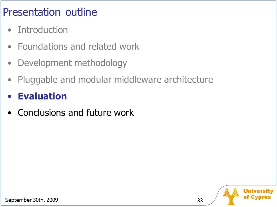 Presentation outline Introduction Foundations and related work