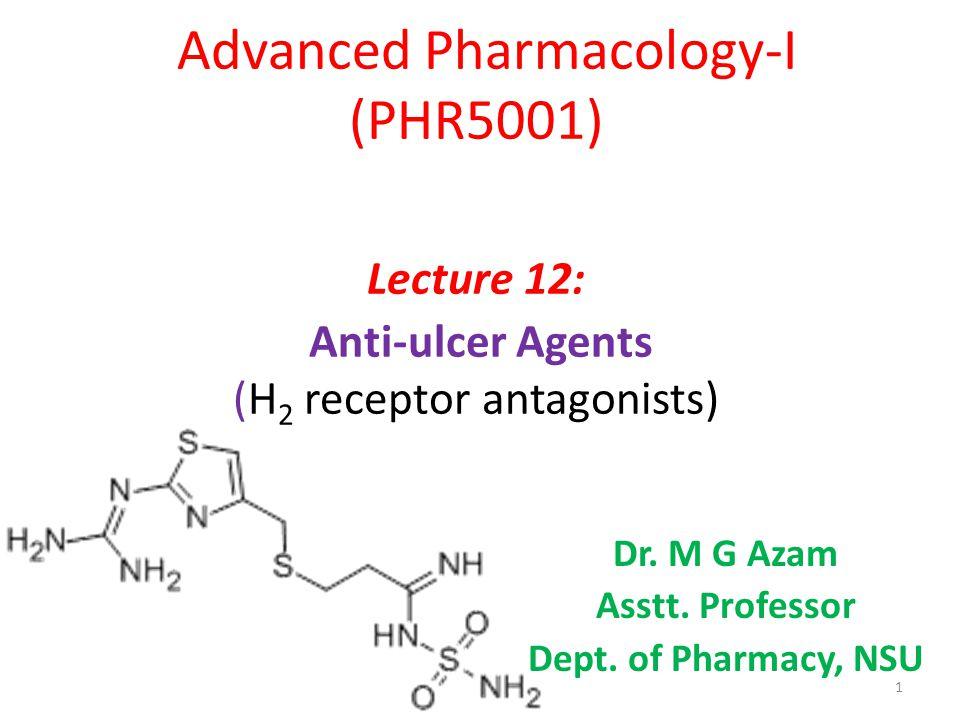 Dr. M G Azam Asstt. Professor Dept. of Pharmacy, NSU