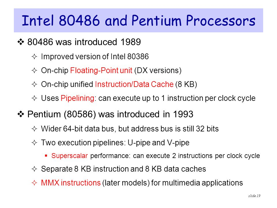 Intel and Pentium Processors