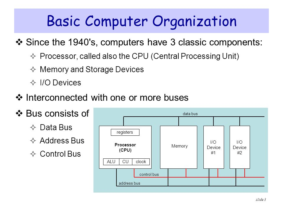 bus organization in computer