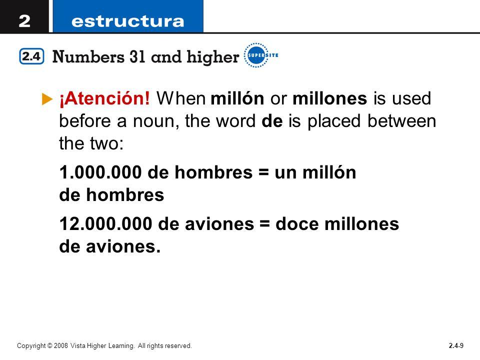 1.000.000 de hombres = un millón de hombres
