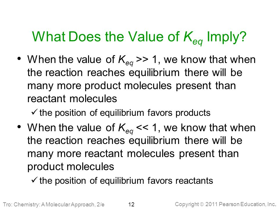 What Does the Value of Keq Imply