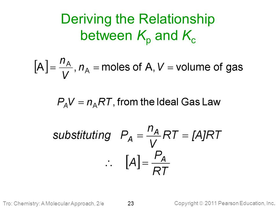 Deriving the Relationship between Kp and Kc
