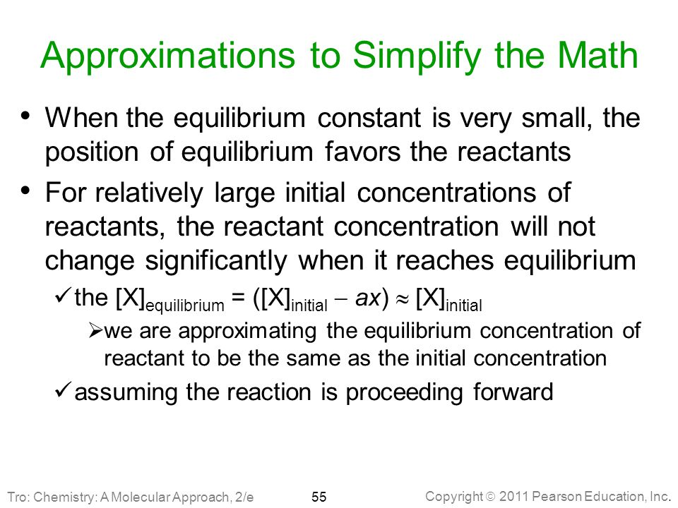 Approximations to Simplify the Math