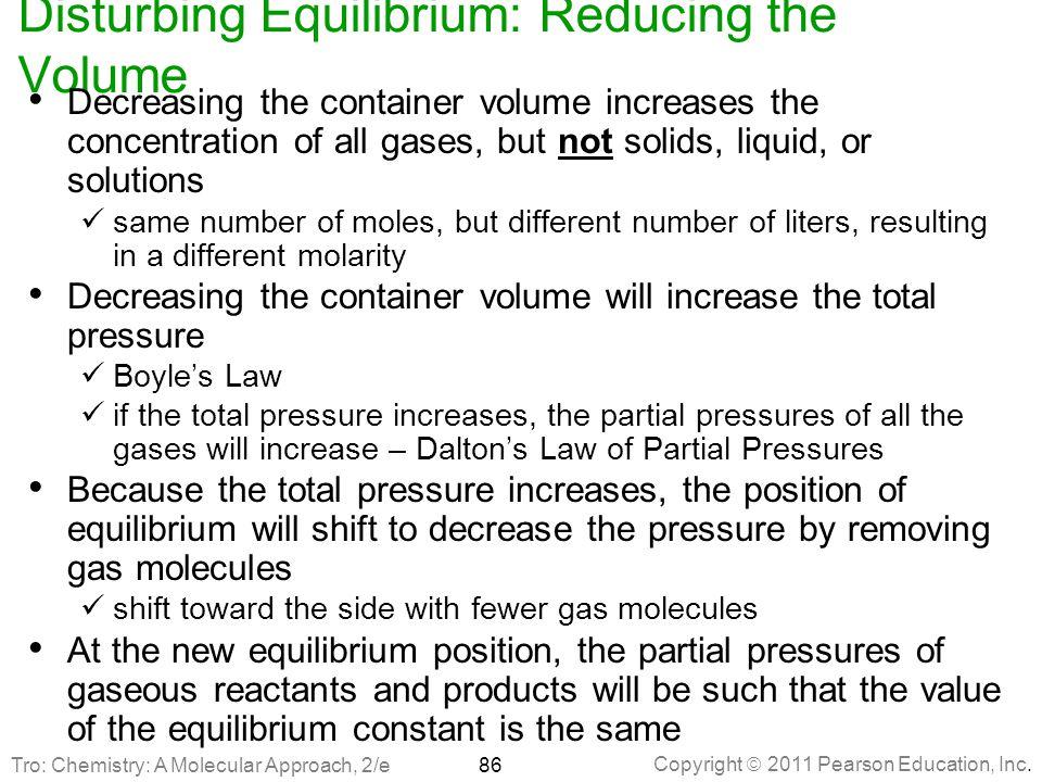 Disturbing Equilibrium: Reducing the Volume