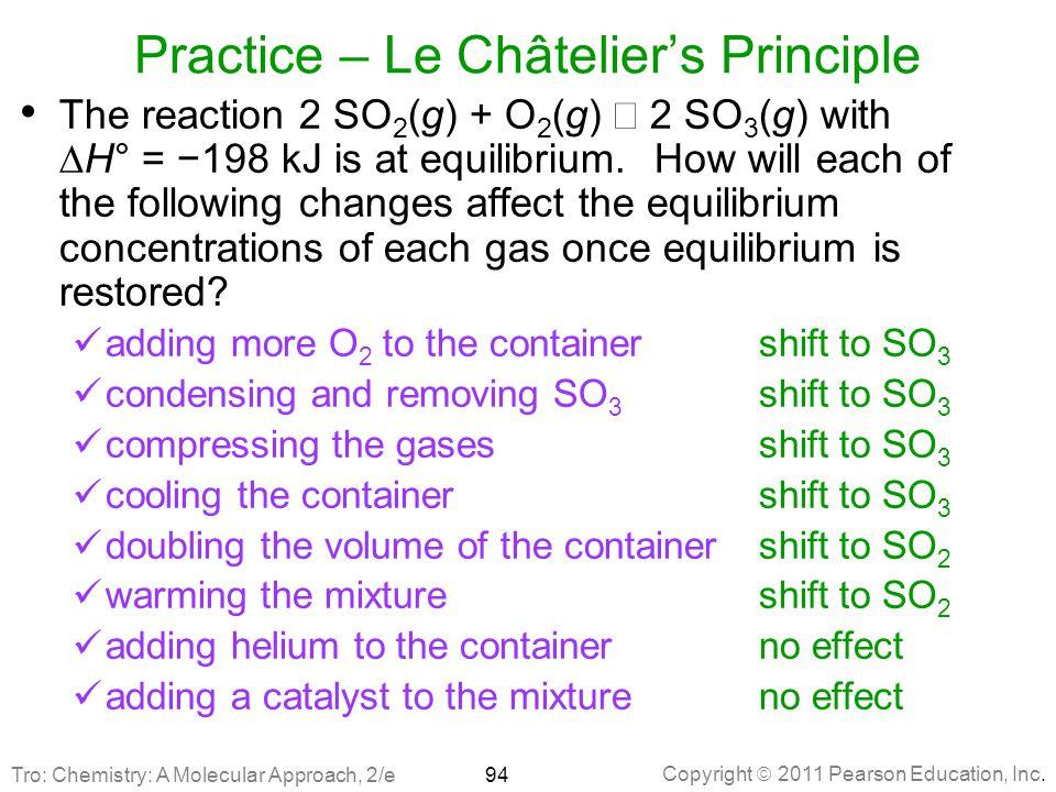 Practice – Le Châtelier's Principle