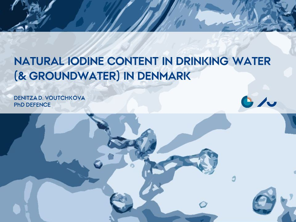 NATURAL IODINE CONTENT IN DRINKING WATER (& GROUNDWATER) IN DENMARK