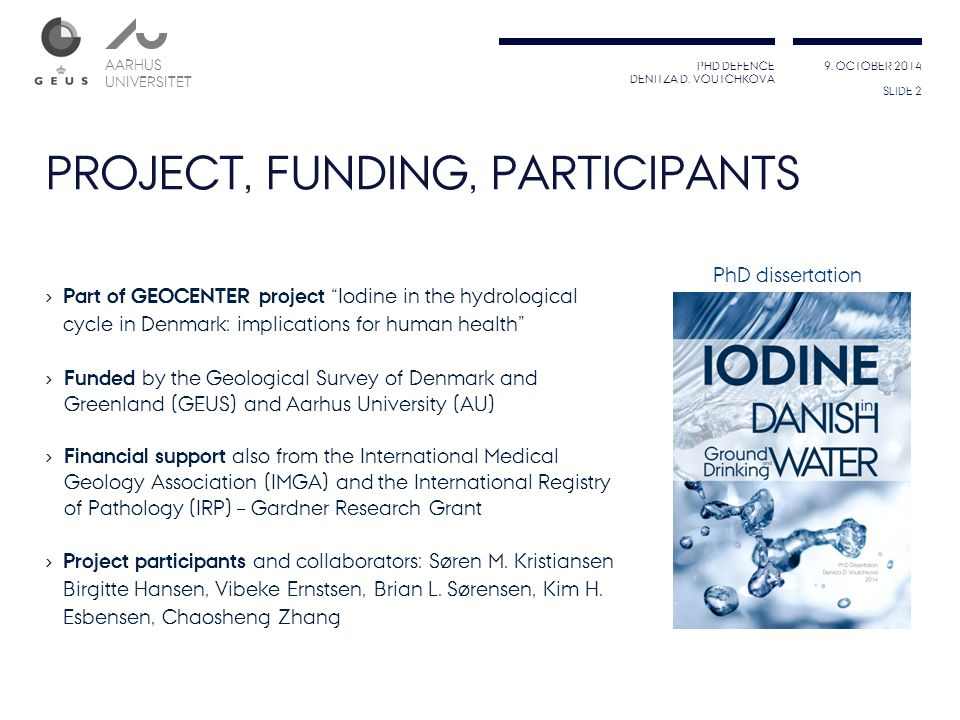 PROJECT, FUNDING, PARTICIPANTS