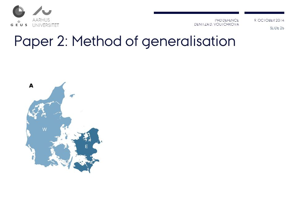 Paper 2: Method of generalisation
