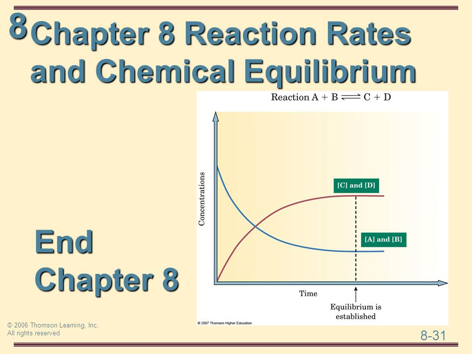 Chapter 8 Reaction Rates and Chemical Equilibrium