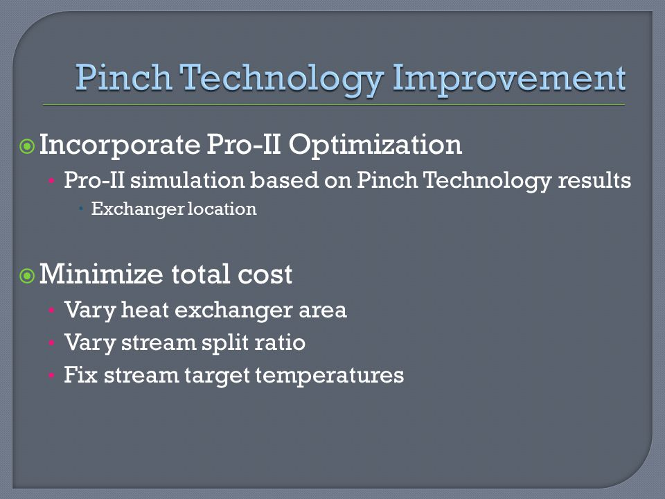 Pinch Technology Improvement