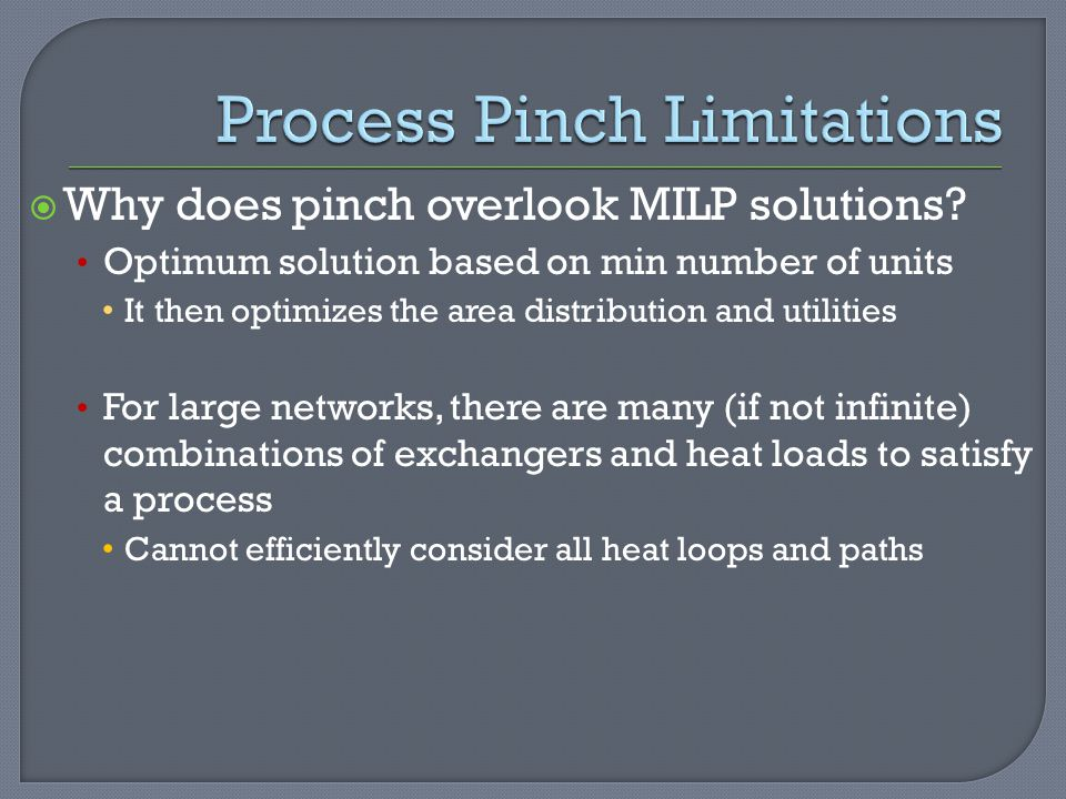 Process Pinch Limitations