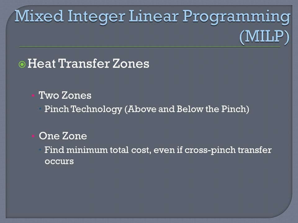 Mixed Integer Linear Programming (MILP)