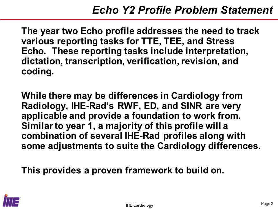 Echo Y2 Profile Problem Statement