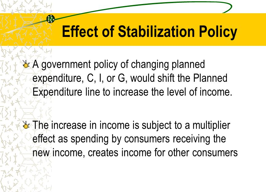 Effect of Stabilization Policy