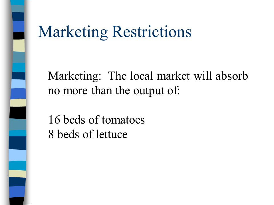 Marketing Restrictions