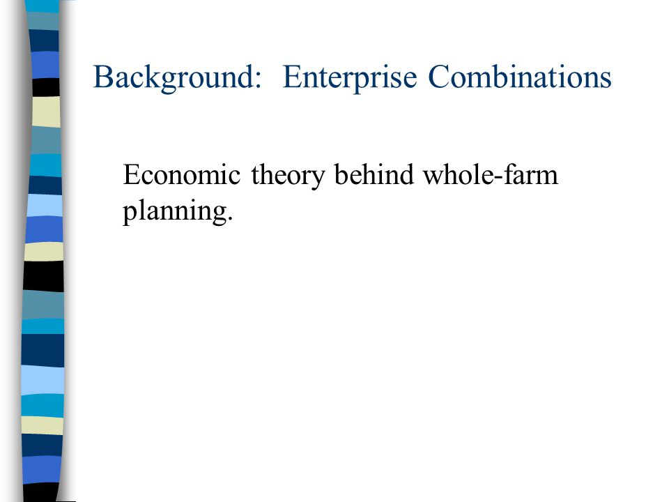 Background: Enterprise Combinations