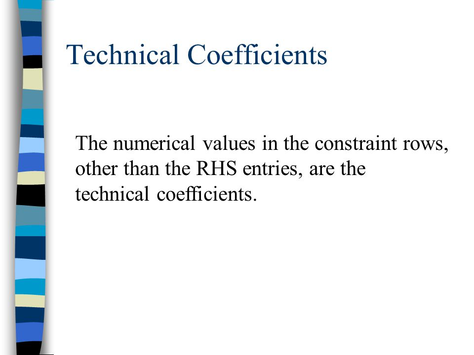 Technical Coefficients