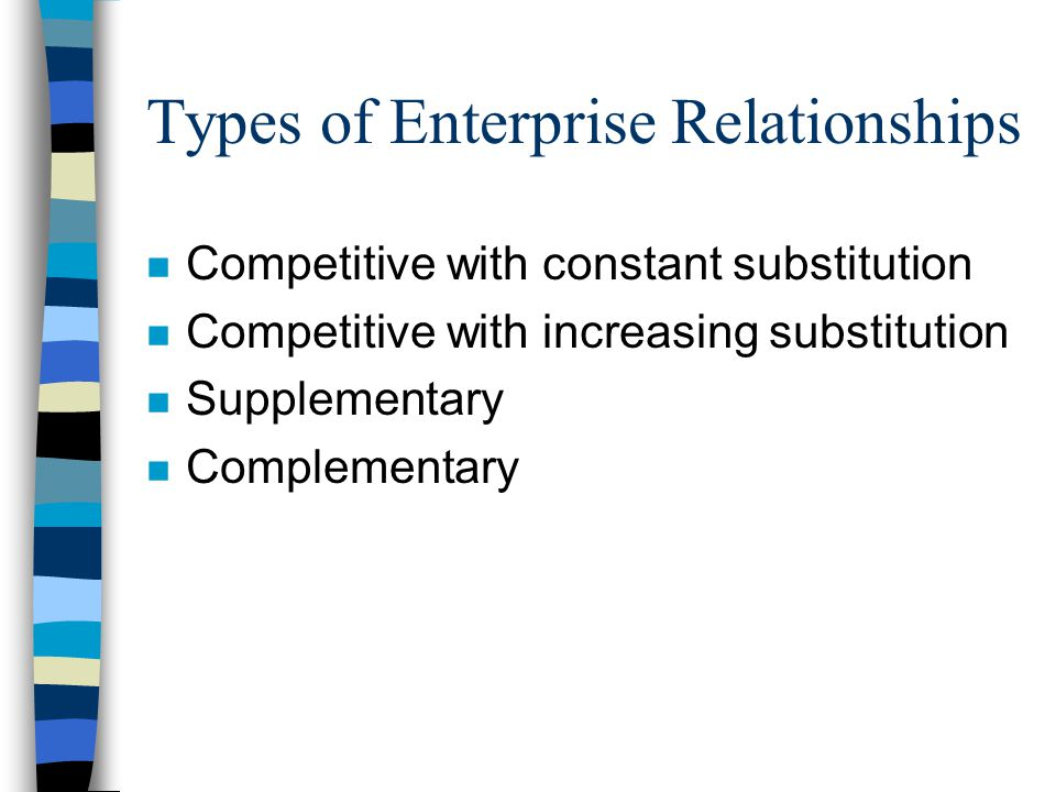 Types of Enterprise Relationships