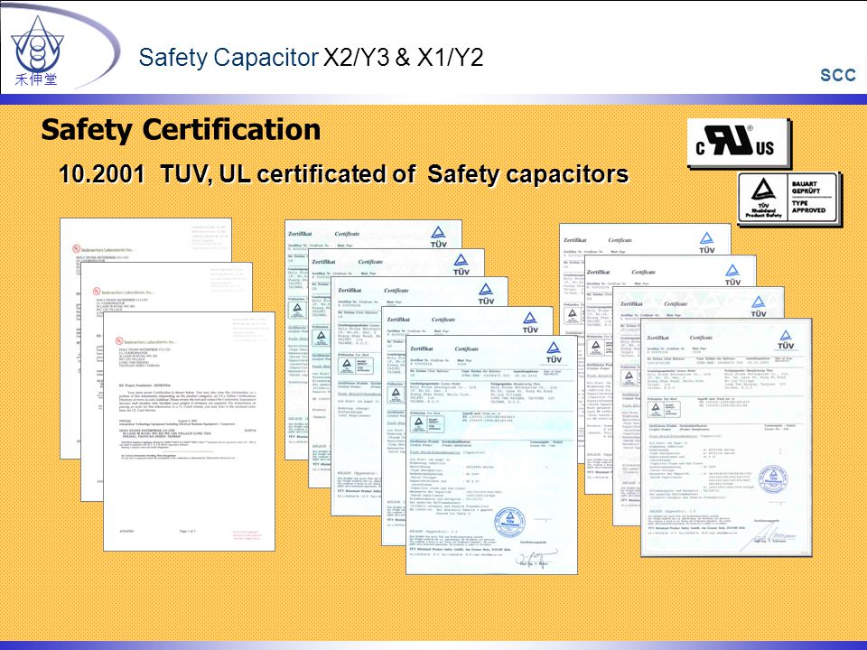 Safety Certification Safety Capacitor X2/Y3 & X1/Y2