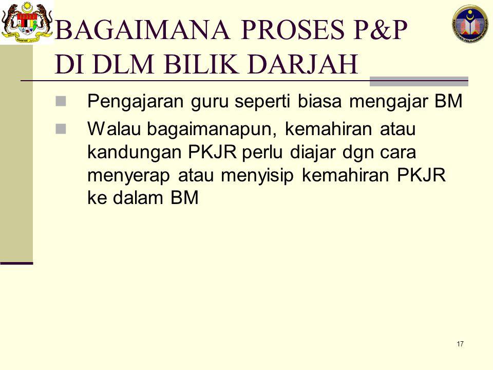 BAGAIMANA PROSES P&P DI DLM BILIK DARJAH
