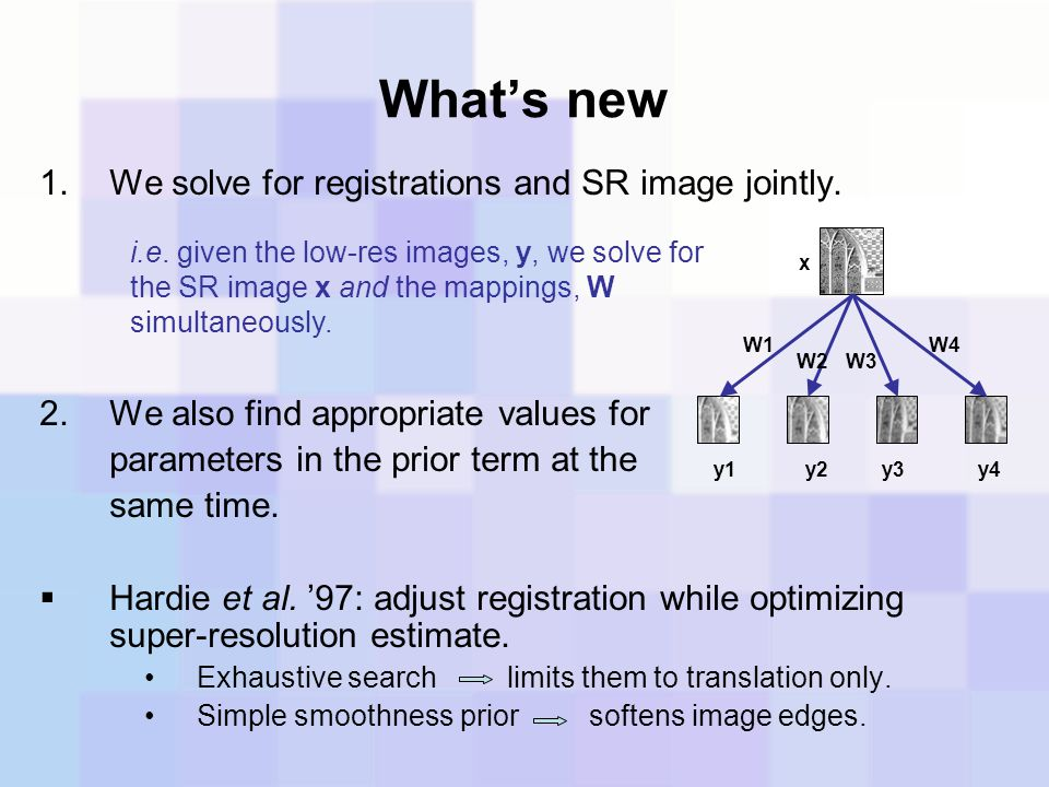 What's new We solve for registrations and SR image jointly.