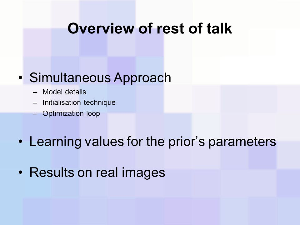 Overview of rest of talk