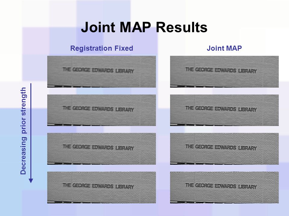Joint MAP Results Registration Fixed Joint MAP