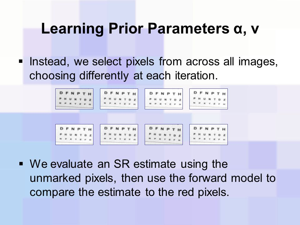Learning Prior Parameters α, ν