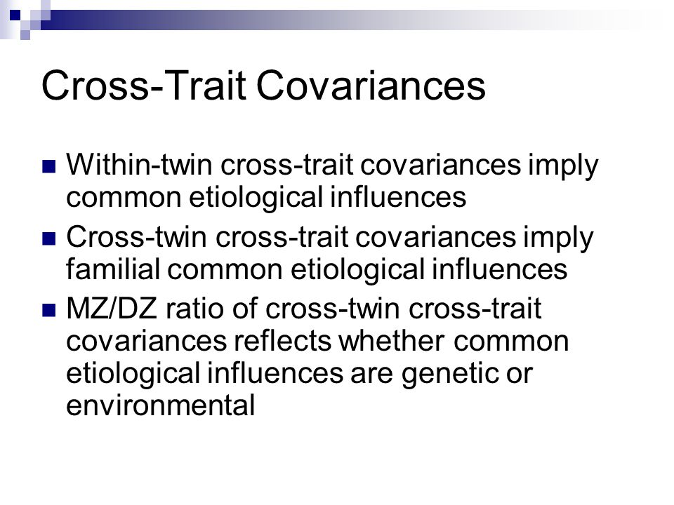 Cross-Trait Covariances
