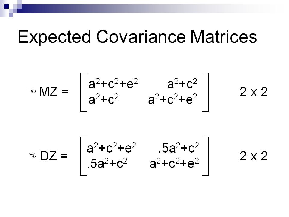Expected Covariance Matrices