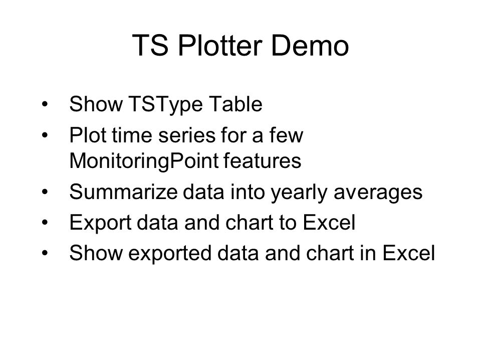 TS Plotter Demo Show TSType Table