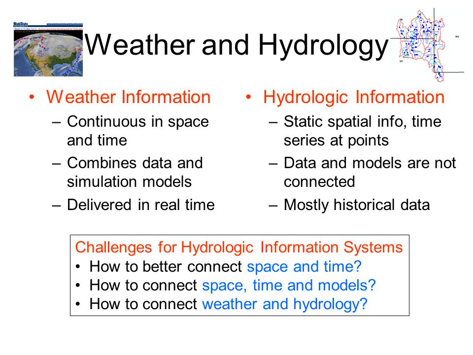 Weather and Hydrology Weather Information Hydrologic Information